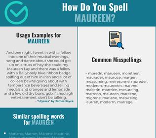 Correct spelling for Maureen