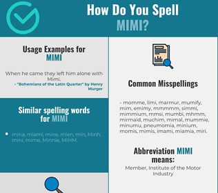 Correct spelling for Mimi