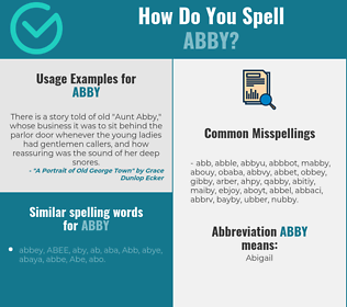 Correct spelling for Abby