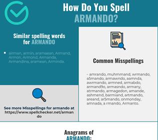 Correct spelling for Armando