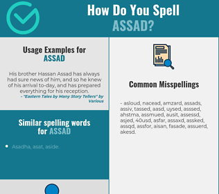 Correct spelling for Assad