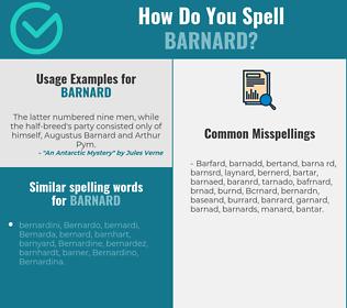 Correct spelling for Barnard