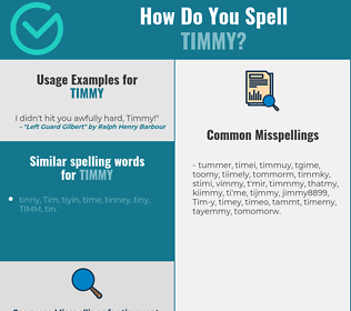 Correct spelling for Timmy