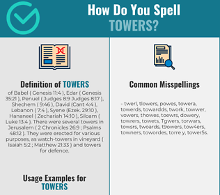 Correct spelling for Towers