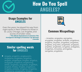Correct spelling for Angeles