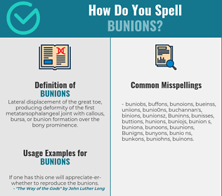 Correct spelling for Bunions