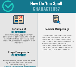 Correct spelling for Characters