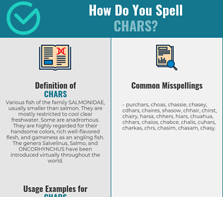 Correct spelling for Chars