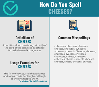Correct spelling for Cheeses