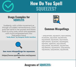 Correct spelling for squeezes