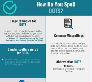 Correct spelling for dots