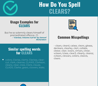 Correct spelling for clears