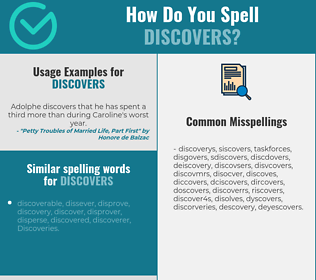 Correct spelling for discovers