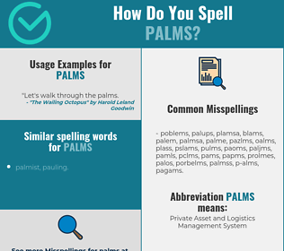 Correct spelling for palms
