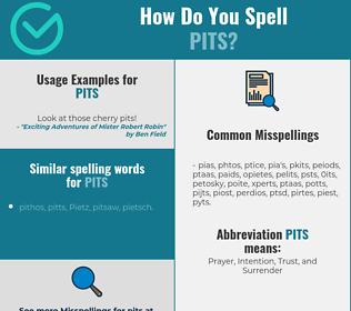 Correct spelling for pits