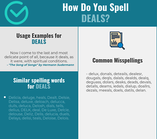 Correct spelling for deals