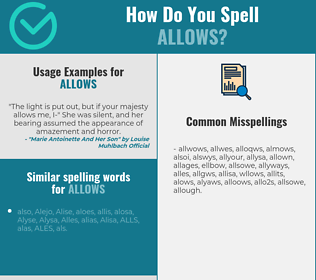 Correct spelling for allows