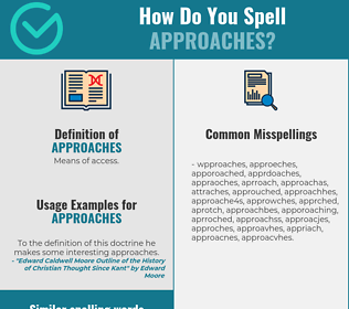 Correct spelling for approaches