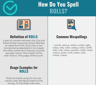 Correct spelling for rolls