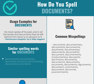 Correct spelling for documents