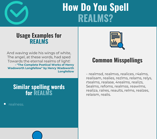 Correct spelling for realms