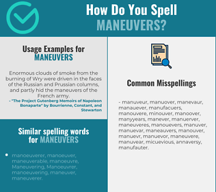 Correct spelling for maneuvers
