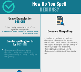 Correct spelling for designs
