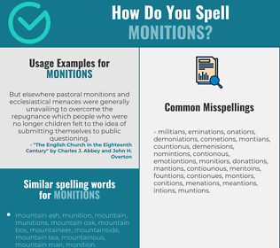 Correct spelling for monitions