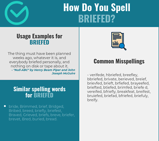 Correct spelling for briefed