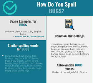 Correct spelling for bugs