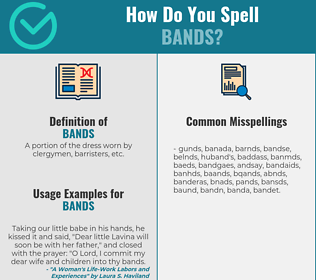 Correct spelling for bands