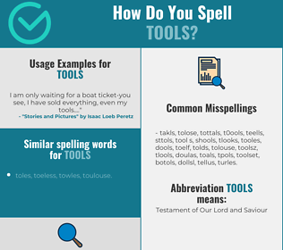 Correct spelling for tools