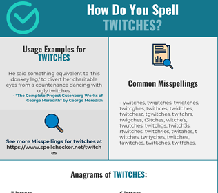 Correct spelling for twitches