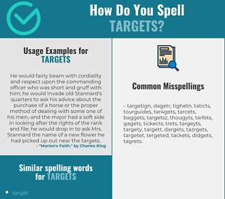 Correct spelling for targets