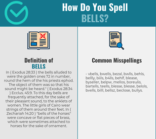 Correct spelling for bells