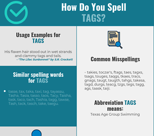 Correct spelling for tags