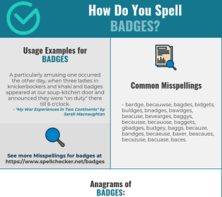 Correct spelling for badges