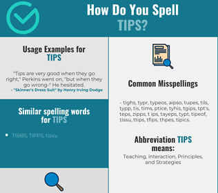 Correct spelling for tips