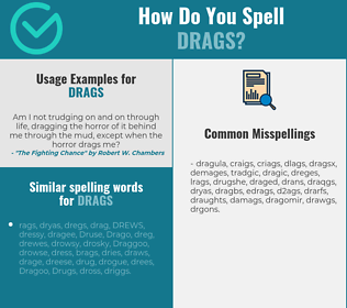 Correct spelling for drags