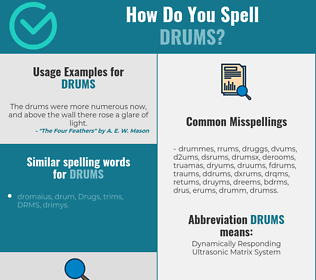 Correct spelling for drums