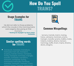 Correct spelling for trains