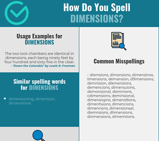 Correct spelling for dimensions