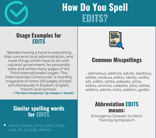Correct spelling for edits