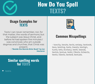 Correct spelling for texts