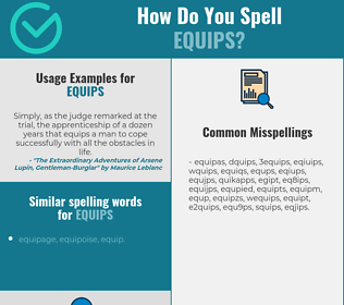 Correct spelling for equips