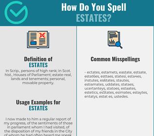 Correct spelling for estates