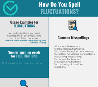 Correct spelling for fluctuations