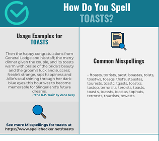 Correct spelling for toasts