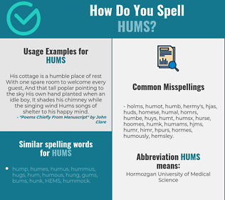Correct spelling for hums
