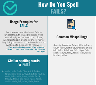 Correct spelling for fails